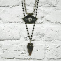 DOUBLE PENDANT NECKLACE